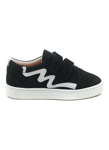 minipicco Unısex Deri Ortopedik Destekli Spor Ayakkabı Siyah